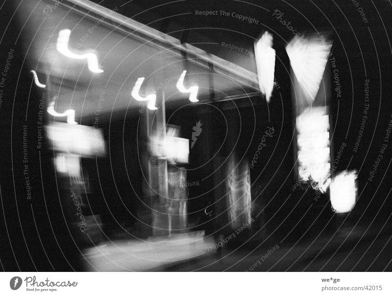 petrol station Petrol station Night Club dea Black & white photo