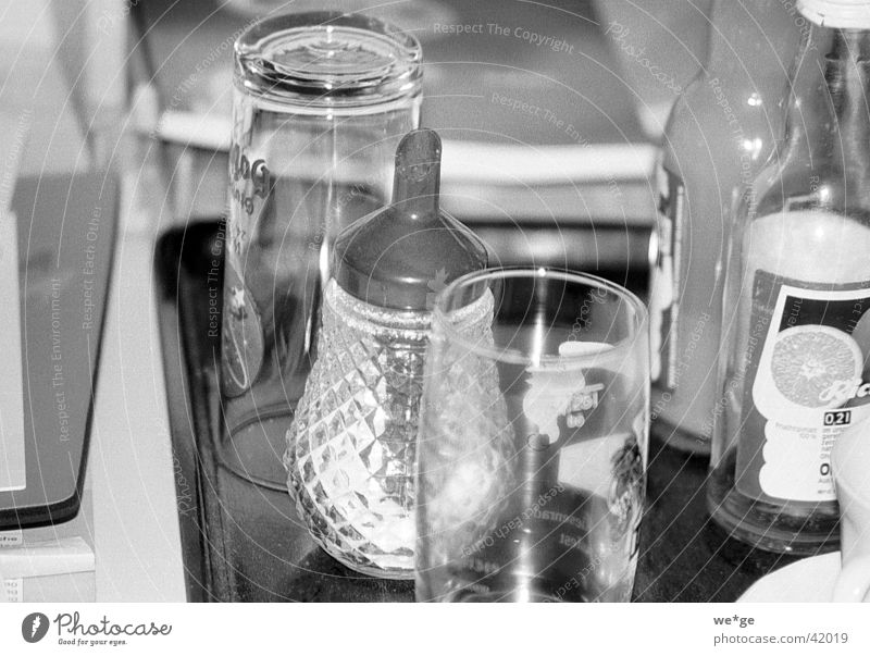 sugar Things Milk and sugar Glass Black & white photo