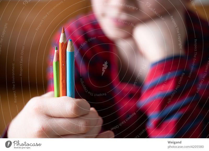 homeschooled child Homeschooling Child Lessons pens Elementary school colors three Decide Education Study