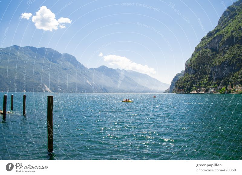 Lake Garda - Lago di garda Water Forest Rock Mountain Lakeside Vacation & Travel Hiking Freedom Leisure and hobbies Climate Nature Sports Tourism Environment