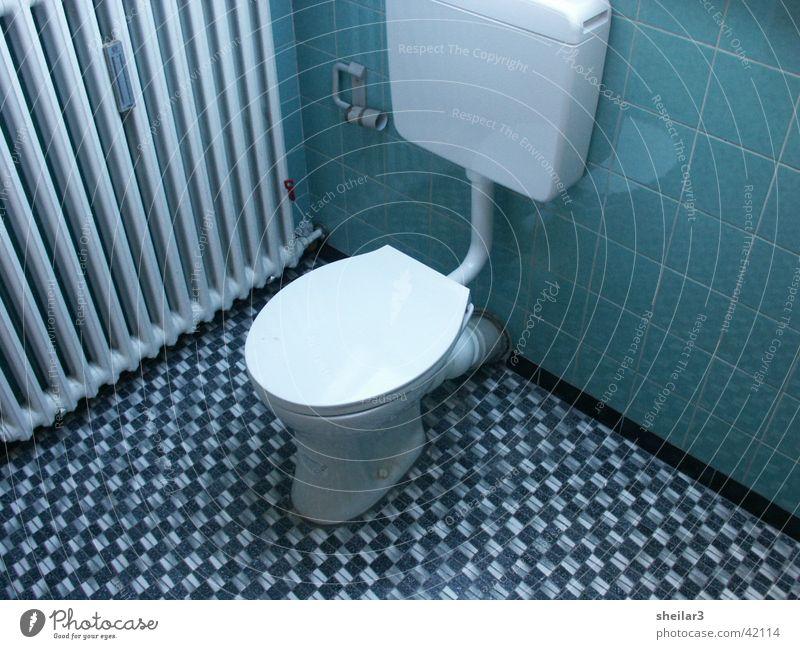 Blue Toilet Things Seventies