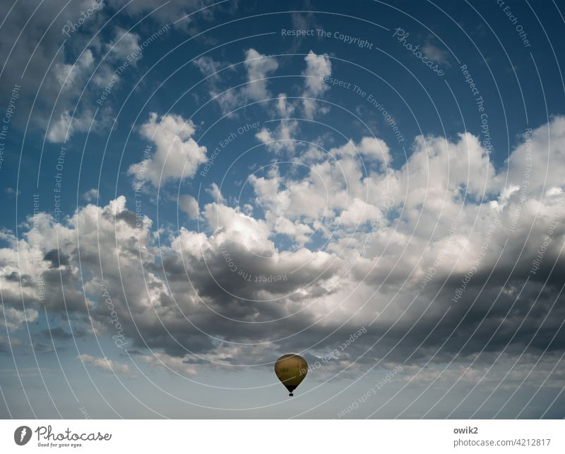 low-flying aircraft balloon Exterior shot Sky Environment Idyll Far-off places Panorama (View) Calm Long shot Peaceful silent Elegant Ease Moody Wanderlust