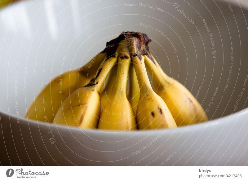 Bananas in a bowl Mature Fruit Nutrition Healthy Eating Food fruit Organic produce Vegetarian diet cute Desert Banana Fruit bowl