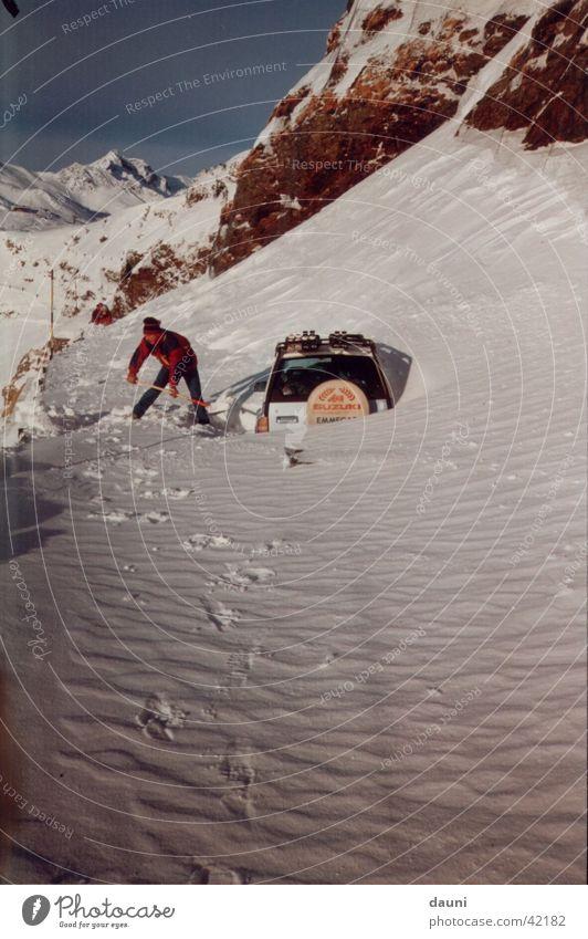 Human being Winter Snow Mountain