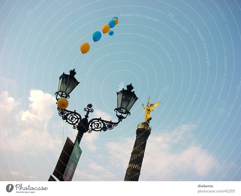 heaven Victory column Balloon Dream Photographic technology Berlin Sky