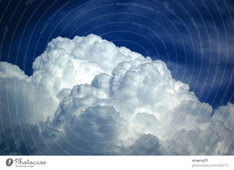 cumulonimbus Clouds Summer Nature Sky Thunder and lightning Blue Rain Weather . blue