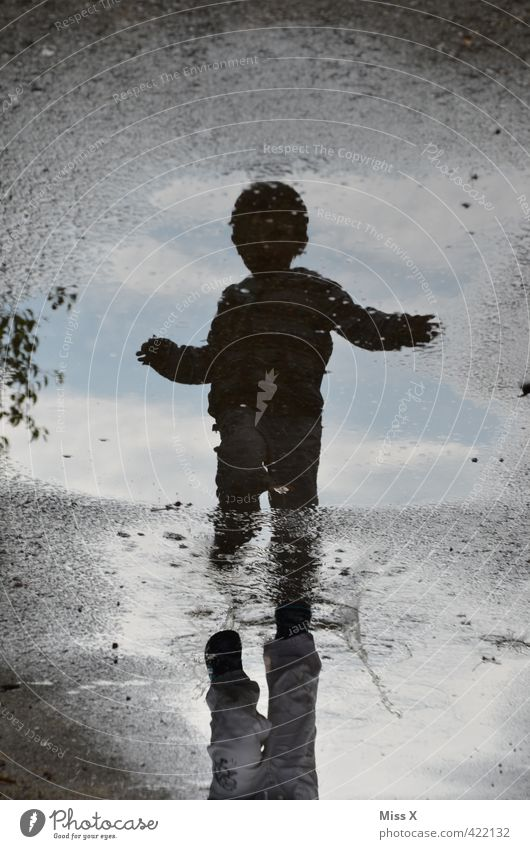 puddle Playing Children's game Toddler 1 - 3 years 3 - 8 years Infancy Water Weather Bad weather Storm Rain Walking Dirty Wet Autumnal weather Puddle