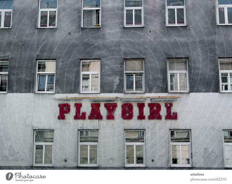 Playgirl in Vienna Old building Facade Town house (City: Block of flats) House (Residential Structure) Architecture playgirl Gloomy nightclub