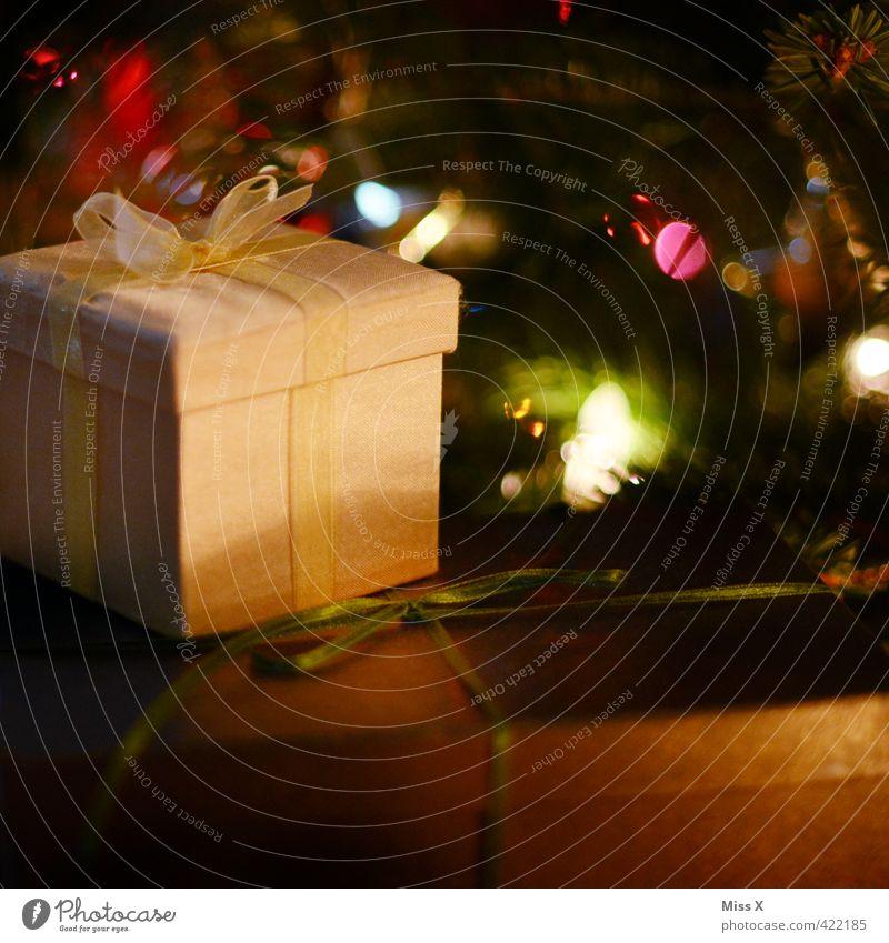 Christmas & Advent Emotions Feasts & Celebrations Moody Glittering Illuminate Birthday Gift Christmas tree Luxury Anticipation Packaging Carton Bow Donate