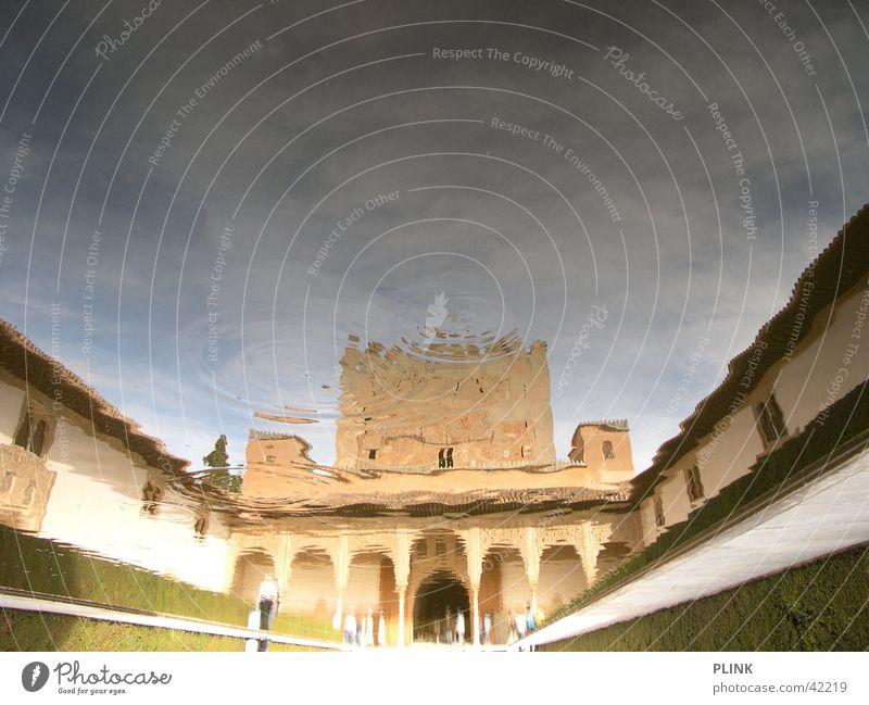 Alhambra Trick17 Granada Spain Reflection Symmetry Summer Architecture Water upsidedown Sun