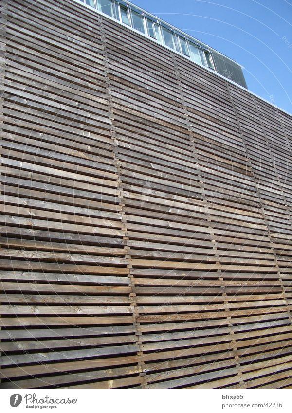 Architecture Mask Wooden board Hannover Facade Weather protection Gable Wooden facade