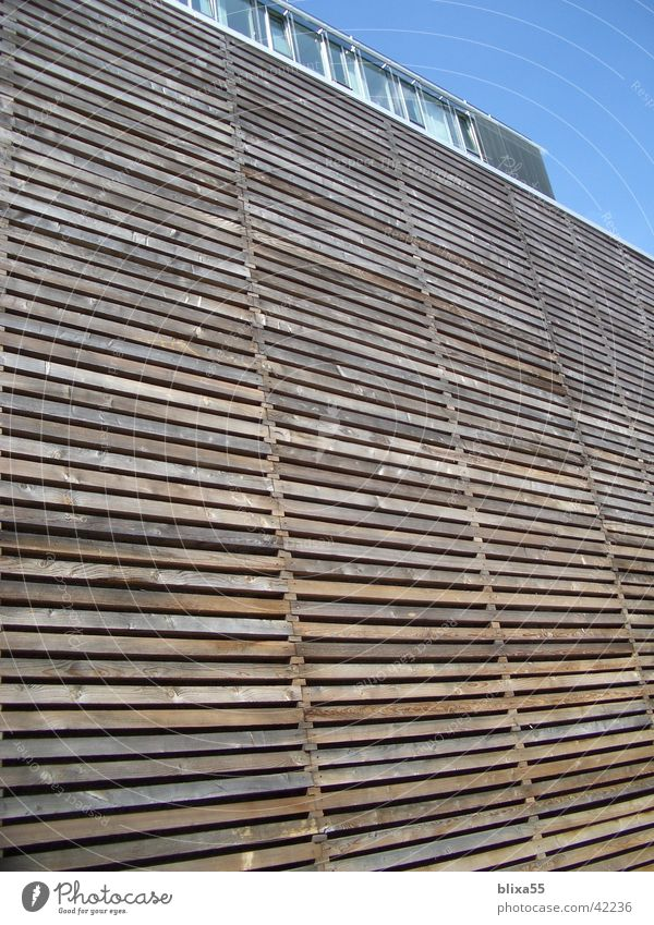 wooden facade Wooden facade Weather protection Gable Hannover Architecture Mask laths Wooden board nordlb