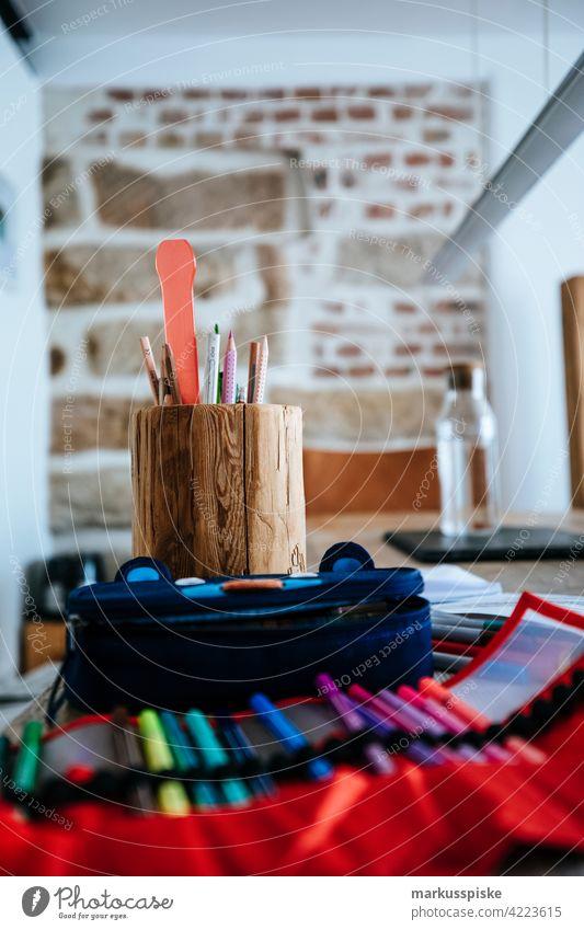 Creative Desk Pens Creativity creatively Draw Illustrator pens pencil box Modern interior Office Agency