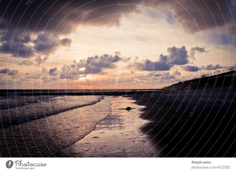Vacation & Travel Water Summer Sun Ocean Clouds Beach Dark Autumn Coast Sand Exceptional Horizon Waves Island Threat