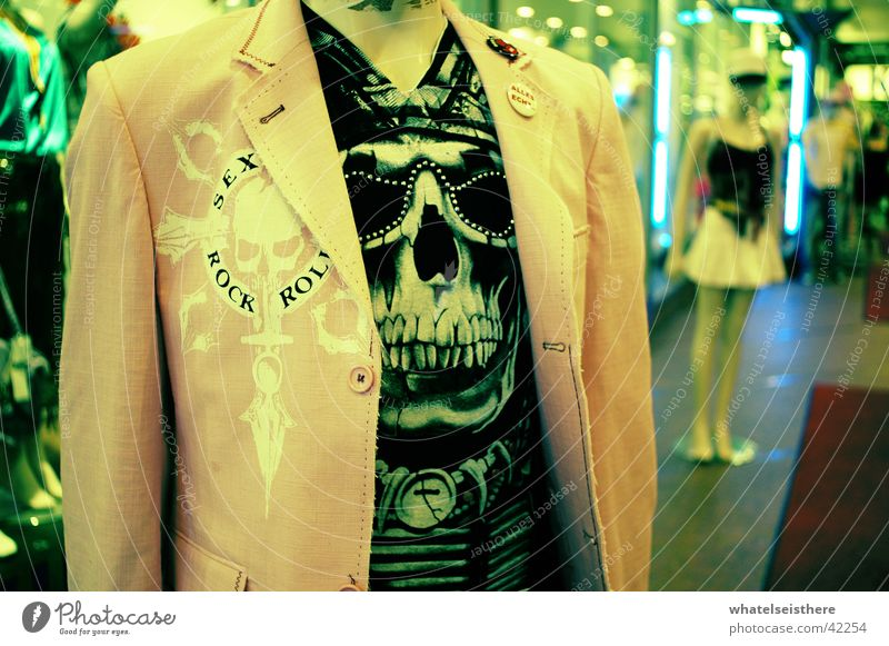 fashion victim Paddle Jacket Style Munich Shopping center Photographic technology Doll T-shirt Death's head Fashion