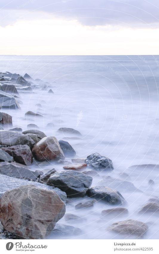 Sky Nature Blue Water Ocean Landscape Calm Clouds Beach Environment Cold Autumn Coast Gray Stone Natural