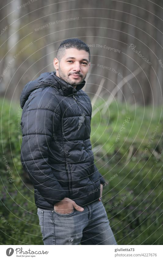 Young man from Palestine in Germany portrait Human being Man 20-30 years old 1 Person young adult masculine Palestinian Arab Designer stubble Lifestyle