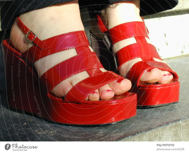 Red_shoes Footwear Sandal Things red shoes Feet Fashion