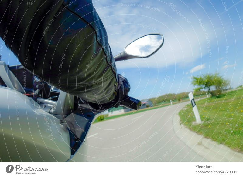 Kurvenlust - cornering on a motorcycle from the pillion passenger's point of view in beautiful spring weather Motorcycle motorbike Motorcyclist Subsection
