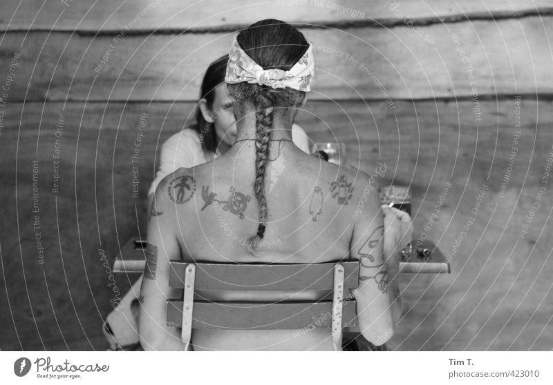 Human being Adults Body Masculine Communicate Uniqueness Tattooed Braids 30 - 45 years Native Americans
