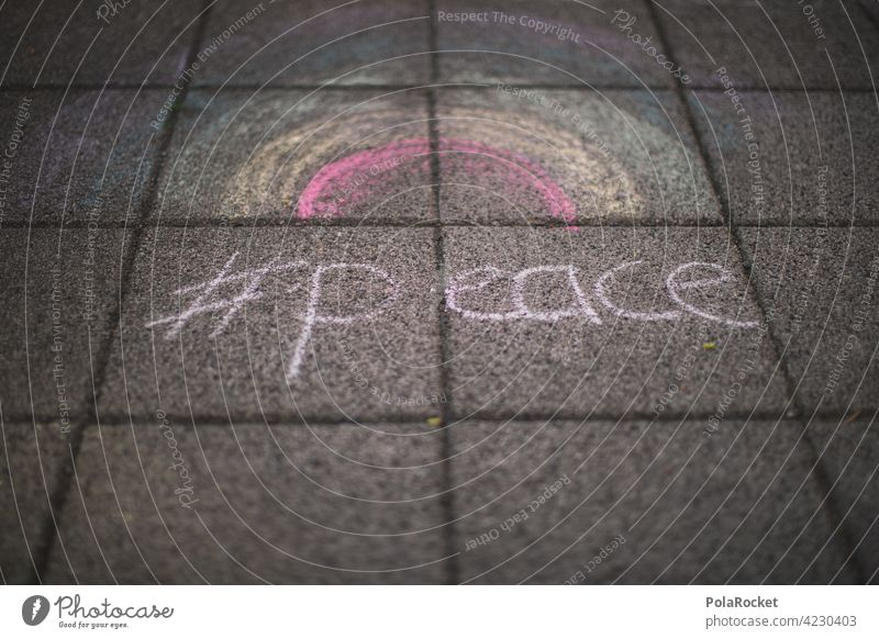 #A0# Street Painting Rainbow Peace Faith & Religion believe Spiritual Peace festival peace sign peace movement Peace Symbols Freedom change Protestant Christ