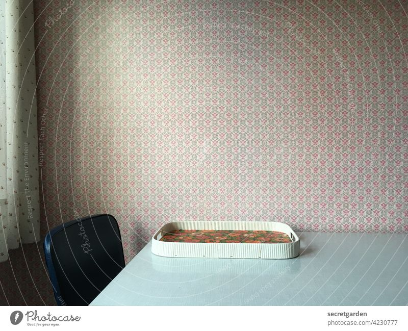 Retro perspective Pattern vintage Deserted Old Interior shot Wall (building) Living or residing Colour photo Interior design Design Flat (apartment) Clean Room