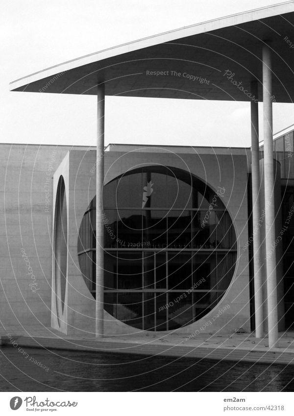 White Black Cold Berlin Window Line Architecture Concrete Empty Circle River Round Point Furrow Graphic Politics and state