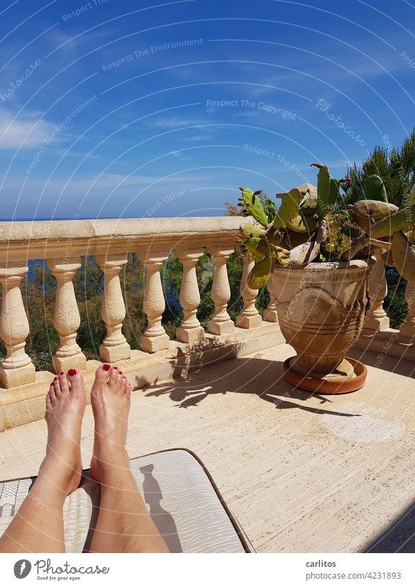 Just no stress ( 1234 photos .... Hurray ! ) Spain Balearic Islands Majorca Terrace Vantage point Vacation & Travel Mediterranean Summer South Flair Ocean