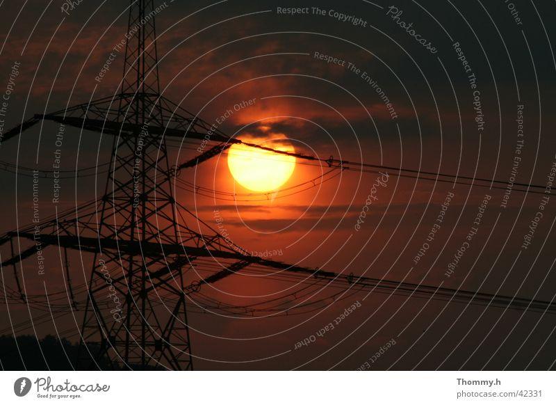 Sun Electricity Electricity pylon