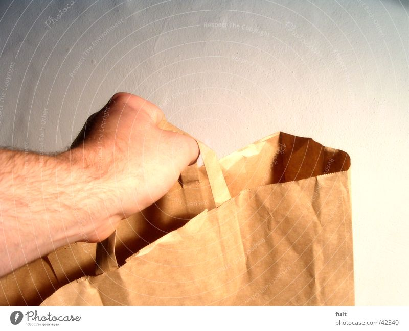 Hand Wall (building) Arm Empty Paper Things To hold on Catch Bag Rich Door handle Carrying Left Give Shopping bag