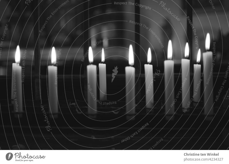 Candles in a chapel Candle altar shoulder stand Religion and faith commemoration Grief Hope Love Belief Prayer Church Christianity Light candles Death pray
