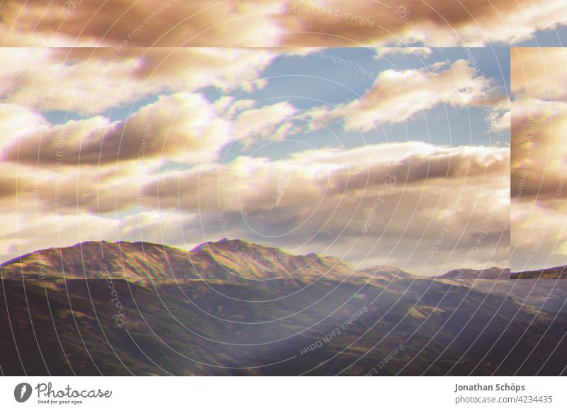 South Tyrol mountains sky landscape glitch effect Nature Landscape Exterior shot Deserted Environment Colour photo Environmental protection Sustainability