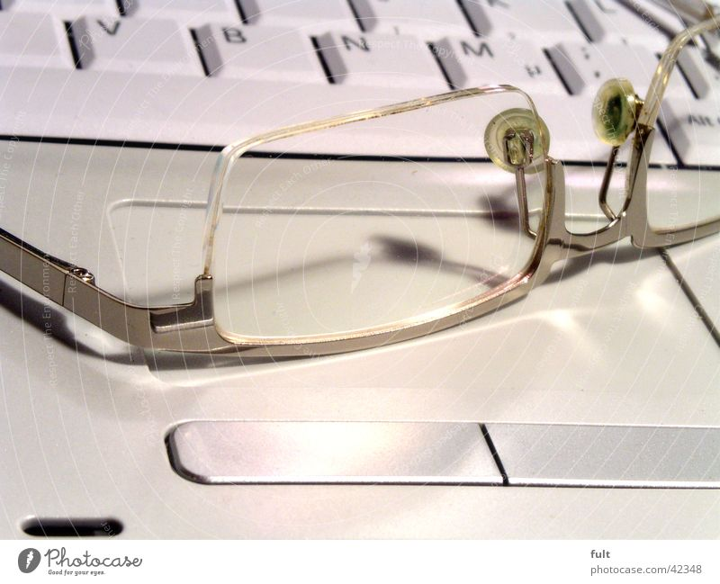 White Calm Gray Computer Business Metal Design Technology Eyeglasses Lie Information Technology Letters (alphabet) Things Keyboard Notebook Statue