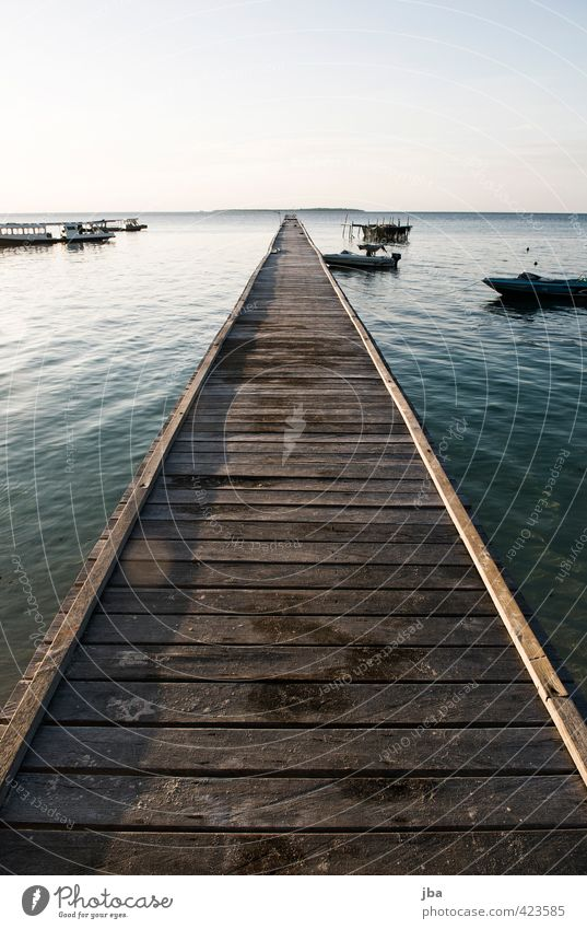 footbridge Harmonious Well-being Relaxation Calm Vacation & Travel Tourism Far-off places Freedom Summer Summer vacation Ocean Island Nature Elements Water