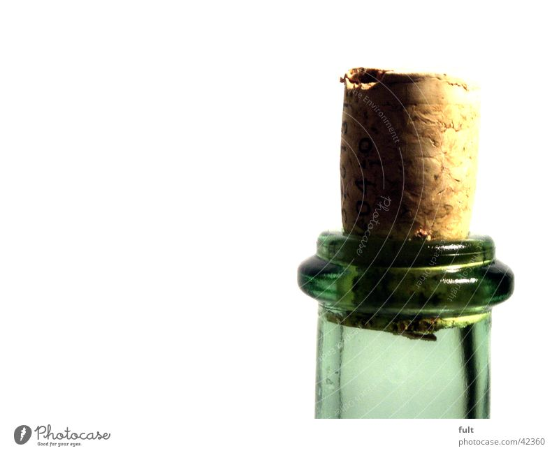 Green Style Glass Round Wine Bottle To enjoy Alcoholic drinks Transparent Bottle of wine Vessel Neck of a bottle Cork Closure Cork Cork