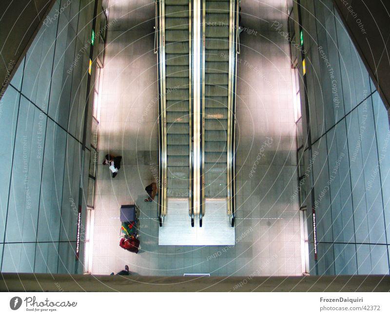 Copenhagen Subway #2 Underground Escalator Building Light Bird's-eye view Long exposure Art Sightseeing Denmark Architecture Human being New Modern Lighting