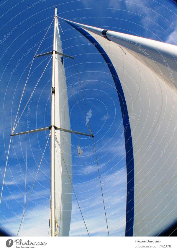 Sky White Blue Vacation & Travel Clouds Sailing Bavaria Navigation Electricity pylon Sail Sailboat Croatia Italy Rigging Shrouds Genua