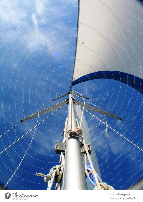 Sky White Blue Vacation & Travel Clouds Sailing Bavaria Navigation Electricity pylon Sailboat Croatia Rigging Shrouds Genua