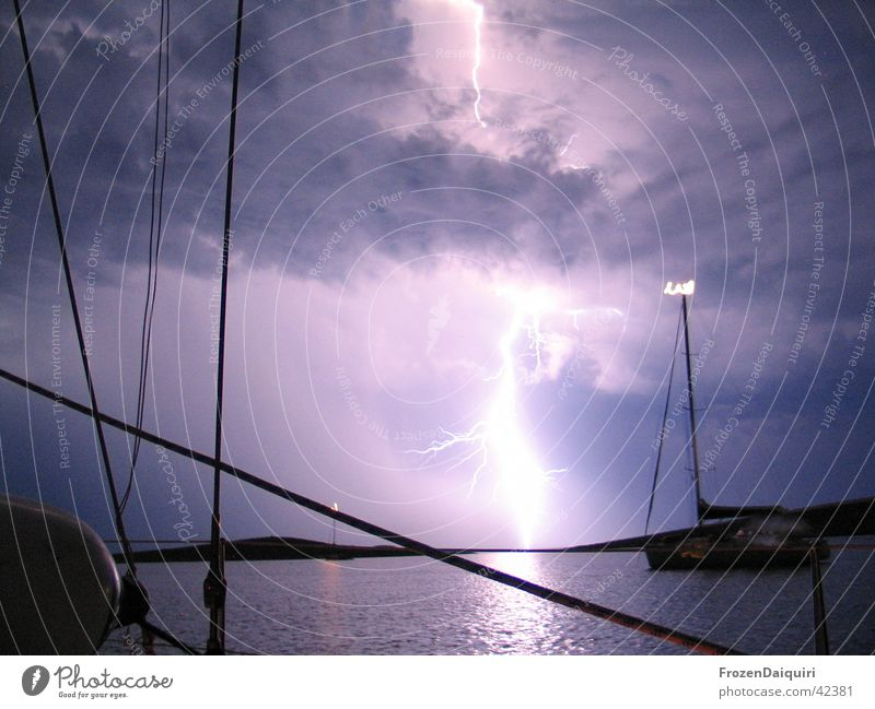 Sky Ocean Clouds Lightning Sailing Thunder and lightning Visual spectacle Croatia