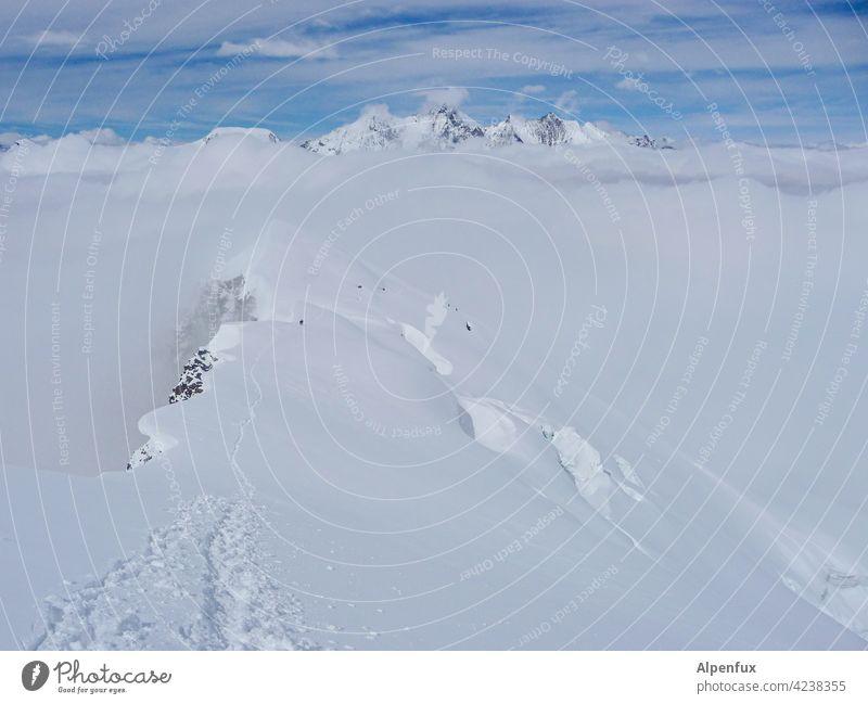 icing on the cake Alps Mountain four-thousand-metre Peak Glacier Snowcapped peak Exterior shot Rock Landscape Nature Climate change Glacial melt valais