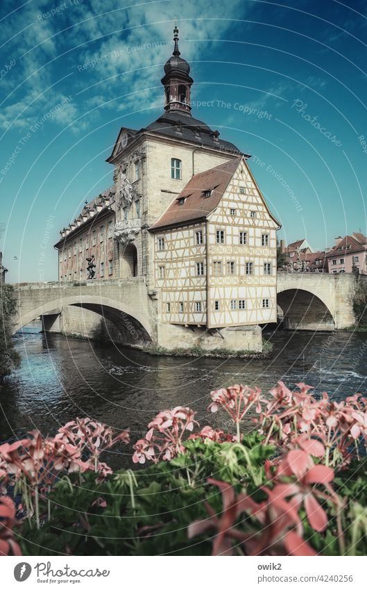 symbol of power Bamberg Old city hall Celebrity Landmark Tourist Attraction Historic Historic Buildings Manmade structures medieval defiant Tower half-timbered