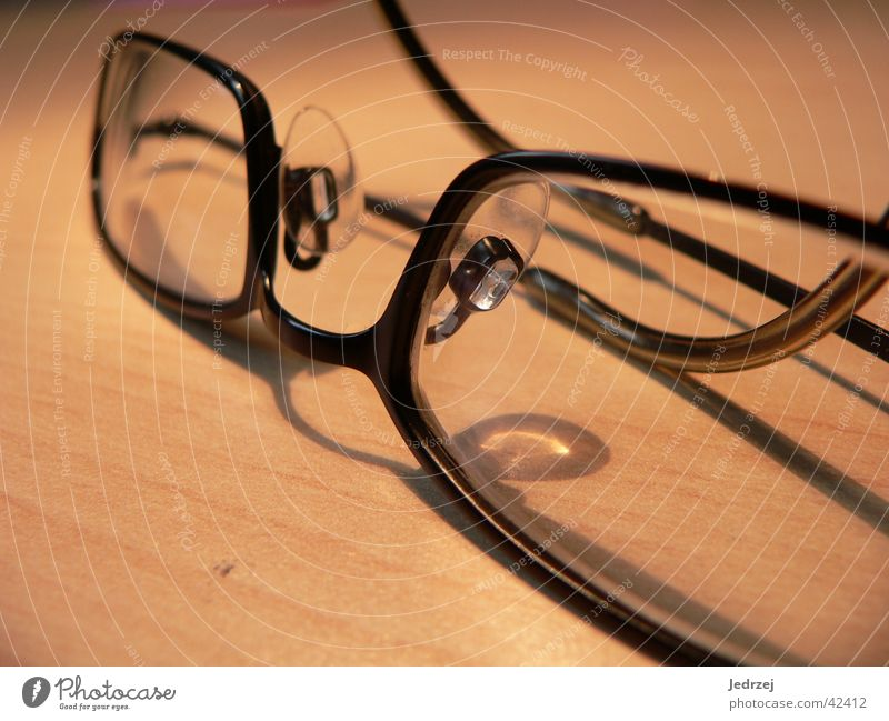 Black Wood Glass Eyeglasses Near Things Depth of field Hanger Framework