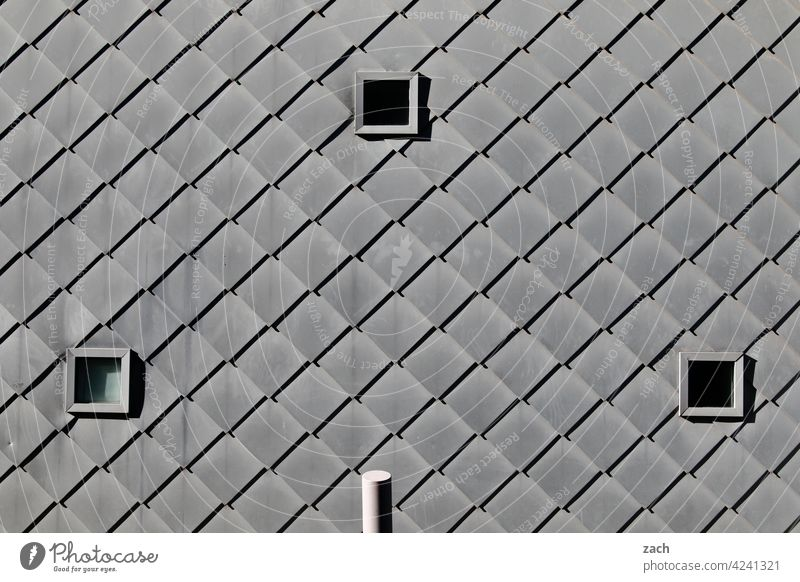 bright grey Pattern Loneliness Window Concrete Line Living or residing Facade Wall (building) Wall (barrier) Architecture Manmade structures Deserted