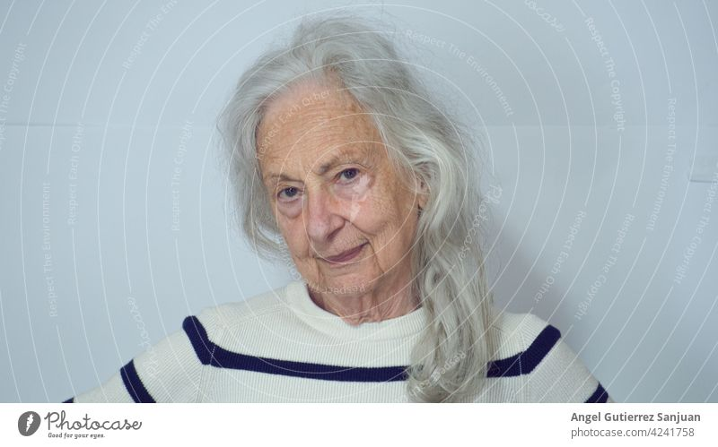 portrait of a senior woman 2021 Woman Portrait photograph 80 years Senior citizen 60 years and older Old Adults Female senior Looking Face