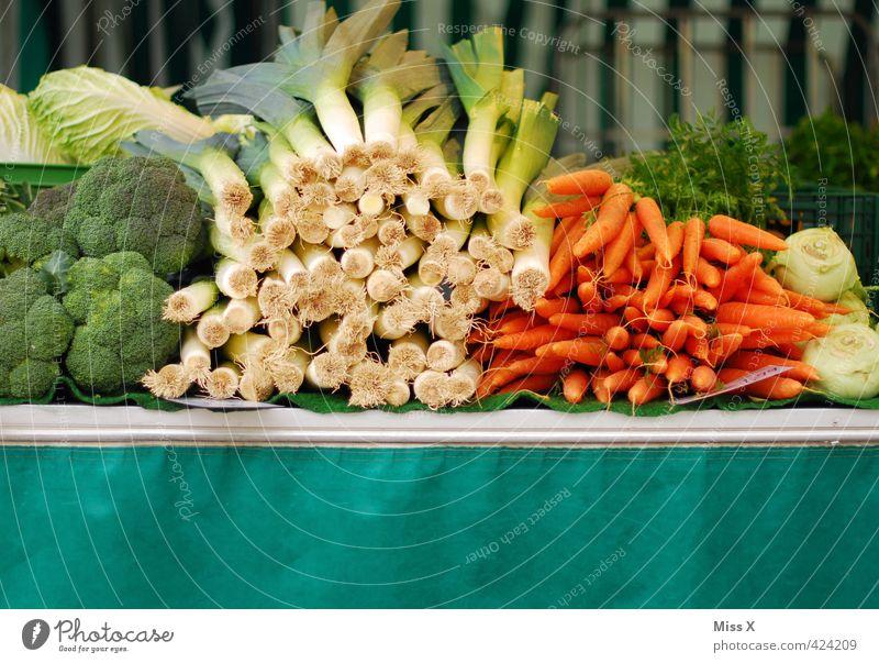 weekly market Food Vegetable Lettuce Salad Nutrition Organic produce Vegetarian diet Diet Shopping Sell Fresh Healthy Delicious Juicy Broccoli Leek Leek stalk