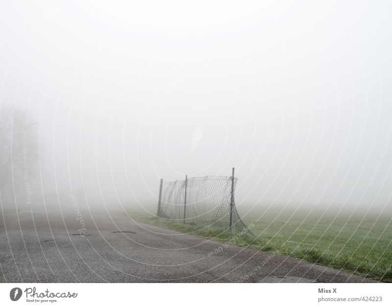 Clouds Winter Cold Autumn Lanes & trails Moody Weather Rain Fog Wet Threat Risk Fence Storm Promenade Autumnal