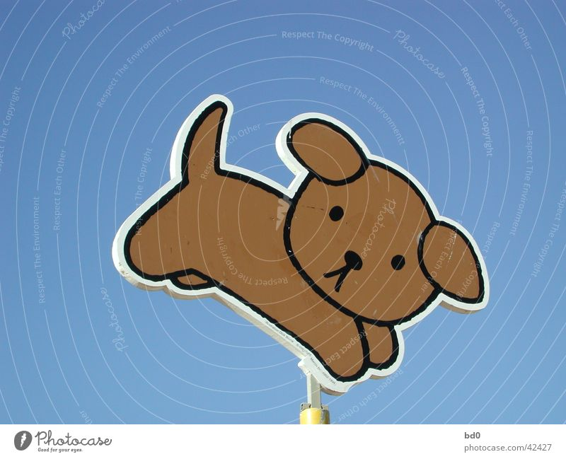 Sky Blue Dog Signs and labeling Illustration Symbols and metaphors Color gradient Light blue