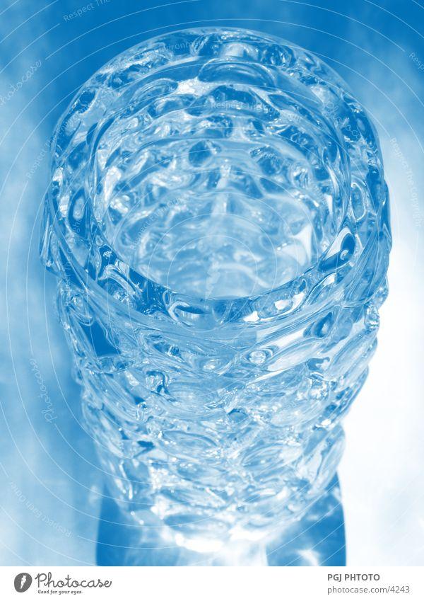 Lighting Glittering Glass Design Transparent Vase