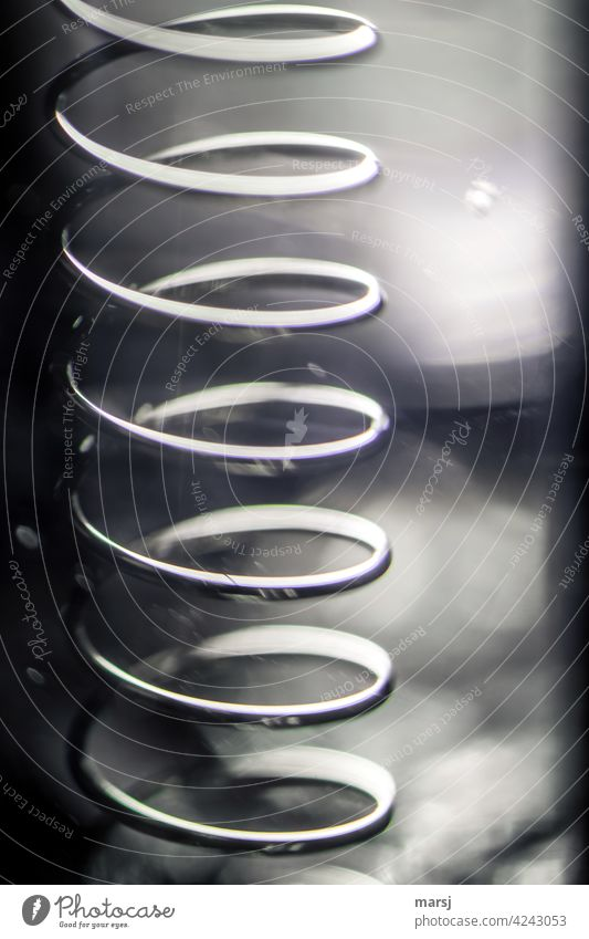 Upward trend in spiral form. Spiral Stainless steel Force Structures and shapes Infinity Steel Metal Whorl Industrial Photography forever disturbed perception