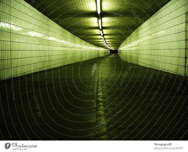 Dark Architecture Tunnel Neon light